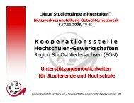 Vorstellung Kooperationsstelle - Kooperationsstelle Hochschulen ...