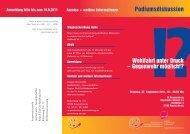 Podiumsdiskussion - Kooperationsstelle Hochschulen ...