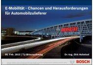 E M bilität Ch d H f d E-Mobilität - Chancen und Herausforderungen ...