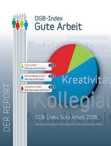 DGB-Index Gute Arbeit 2008 - Nord-Süd-Netz
