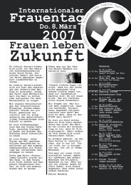 Programm 8. März 2007 - Kooperationsstelle Hochschulen ...
