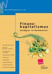 Finanzkapitalismus - ver.di: Wirtschaftspolitik