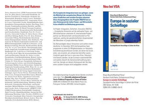 Europa in sozialer Schieflage - Kooperationsstelle Osnabrück