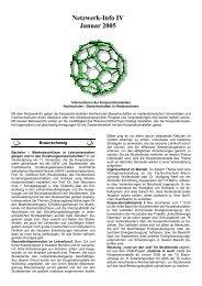 Netzwerk-Info IV Januar 2005 - Kooperationsstelle Hochschulen ...