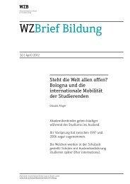 Zum WZBrief Bildung (pdf) - Bibliothek - WZB