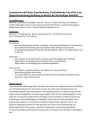 Branchendialog Nachhaltige Mobilität - Kooperationsstelle ...