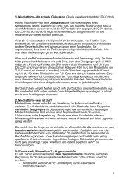 Mindestlohn im Überblick - Kooperationsstelle Hochschulen ...