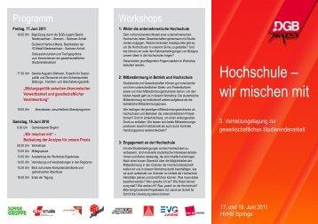 Hochschule - Kooperationsstelle Hochschulen-Gewerkschaften ...
