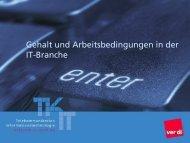Gehalt und Arbeitsbedingungen in der IT-Branche