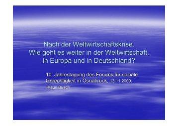 Vortrag Klaus Busch - Kooperationsstelle Osnabrück
