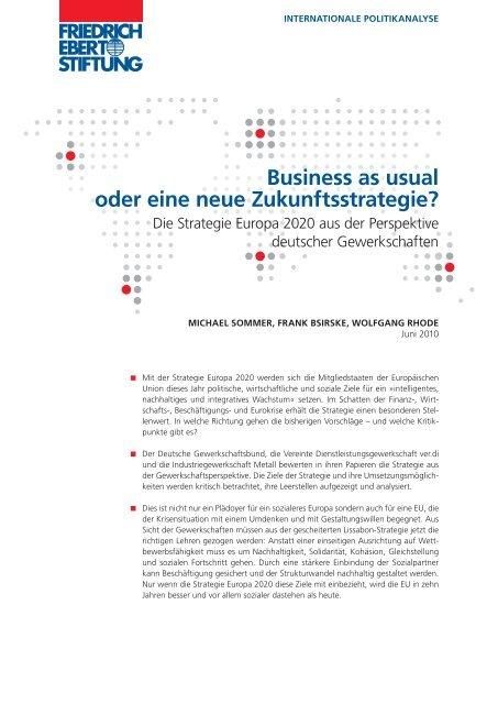 Business as usual oder eine neue Zukunftsstrategie? - Nord-Süd-Netz