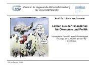 Vortrag Prof. Dr. Ulrich van Suntum - Kooperationsstelle Osnabrück