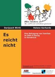 Es reicht nicht (August 2011) - Kooperationsstelle Osnabrück
