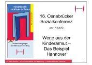 Vortrag Dr. Silke Mardorf, Hannover - Kooperationsstelle Osnabrück