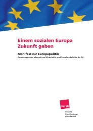 Europa Manifest von Verdi vom 13. Oktober 2008