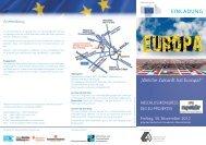 Welche Zukunft hat Europa? - Arbeit und Leben