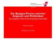 Der Bologna.Prozess und seine Umsetzung. Europäische Dimension