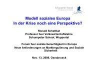 Vortrag Prof. Dr. Ronald Schettkat