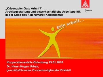 Krisenopfer Gute Arbeit? - Kooperationsstelle Hochschule ...