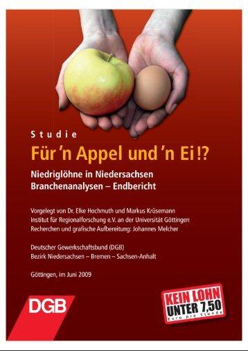 """Studie """"Für'n Appel und n' Ei!?"""" - Kooperationsstelle Osnabrück"""