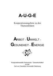 A-U-G-E - Kooperationsstelle Hochschule - Gewerkschaften ...