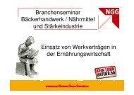 NGG Werkverträge - Kooperationsstelle Hochschule - Gewerkschaften