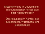 Mitbestimmung in Deutschland - Kooperationsstelle Hochschule ...