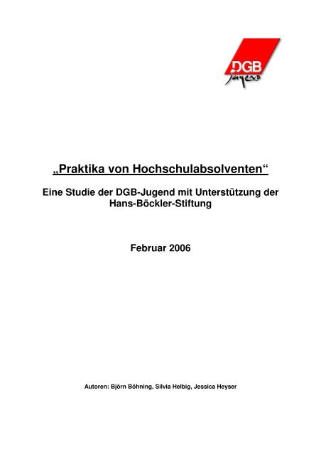 """""""Praktika von Hochschulabsolventen"""" - Kooperationsstelle ..."""