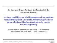 Dr. Bernard Braun Zentrum für Sozialpolitik der Universität Bremen ...