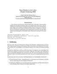 Projekt Vorlesung 2000 - Kooperationssysteme