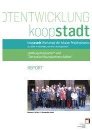 Report zu den Projektfamilen-Workshops - Koopstadt