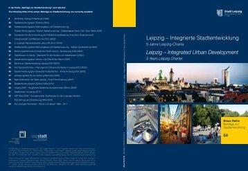 Leipzig – Integrierte Stadtentwicklung I 5 Jahre ... - Stadt Leipzig
