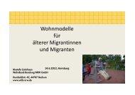 Wohnmodelle für älterer Migrantinnen und Migranten - Hamburger ...