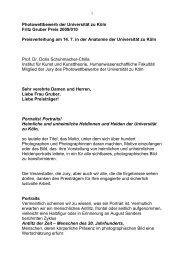 Photowettbewerb der Universität zu Köln Fritz Gruber Preis 2009 ...