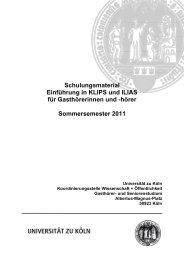Schulungsmaterial Einführung in KLIPS und ILIAS für ...