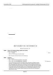 Mathematik und Informatik - koost - Universität zu Köln