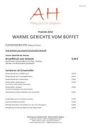 WARME GERICHTE VOM BÜFFET - AH! Partyservice Stephan