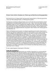 Stellungnahme zur Änderung der BezVG - kopofo