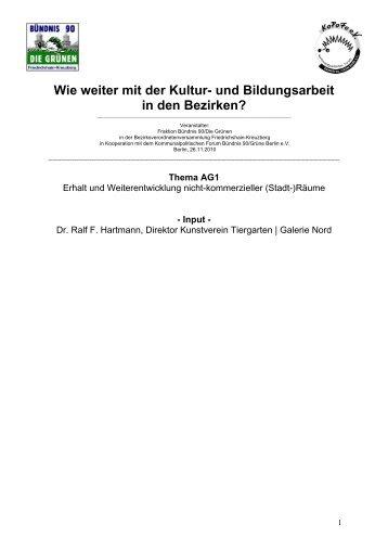 Dr. Ralf F. Hartmann, Kunstverein Tiergarten / Galerie Nord - kopofo