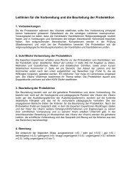 Leitlinien für die Vorbereitung und die Beurteilung der ... - kopta