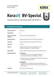 Korasit® BV-Spezial 1. Produktbeschreibung - KORA Holzschutz