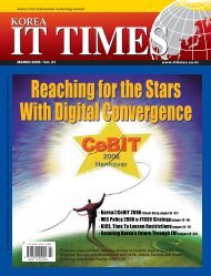 Reaching for the Stars With Digital Convergence ... - Korea IT Times
