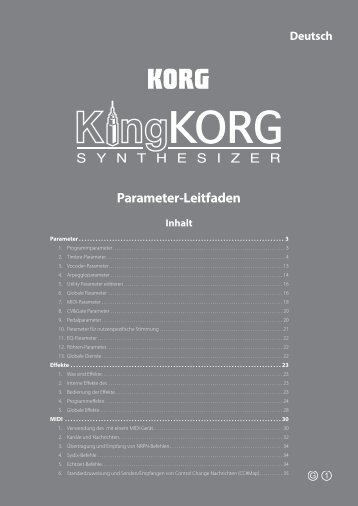 KingKORG Parameter-Leitfaden