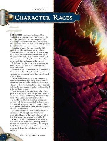 Character Races - korinth