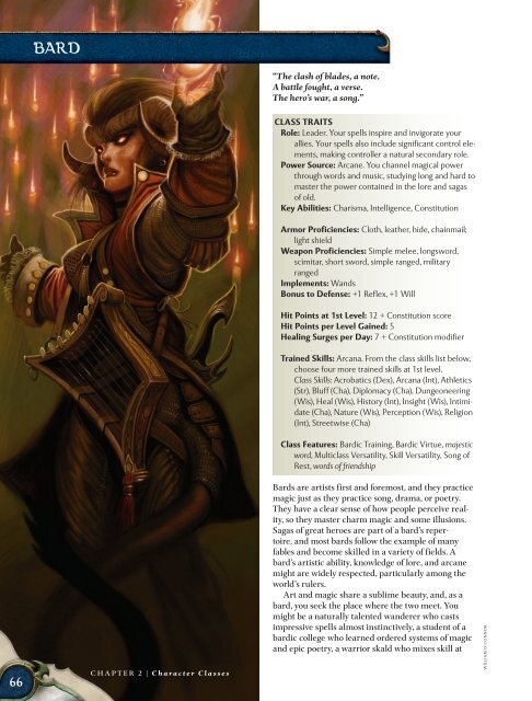 CLASS TRAITS Role: Leader  Your spells in - korinth