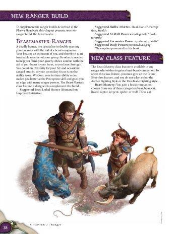 Beastmaster Ranger - korinth