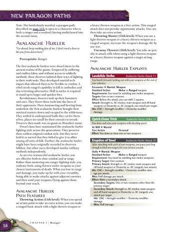 Avalanche Hurler - korinth