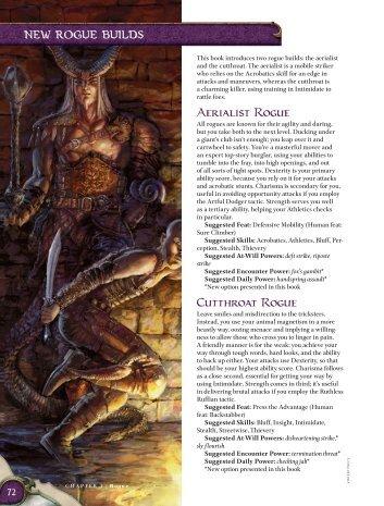 Aerialist Rogue Cutthroat Rogue - korinth