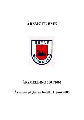 Årsmelding04til05 og referat frå årsmøte - Korpsweb