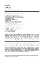 Zybnek Hejda - Lady Feltham - Edition Korrespondenzen